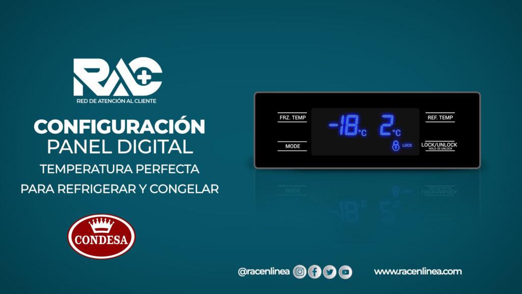 Configura el Panel Digital del Refrigerador 530L Condesa