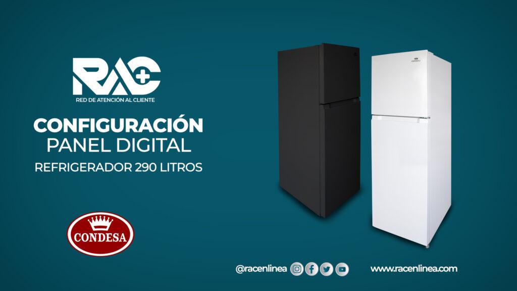 Configuración del panel digital del Refrigerador 290L Condesa