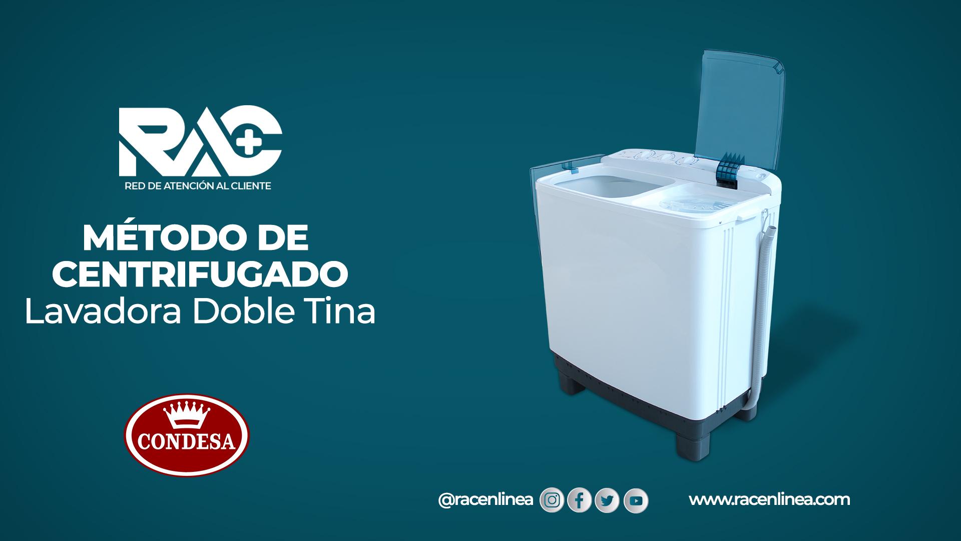 Centrifuga correctamente en tu lavadora Condesa
